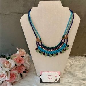 Multicolor layered statement Necklace